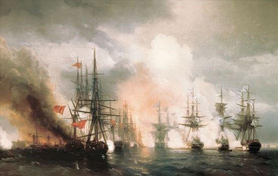 Картины Айвазовского Синопский бой