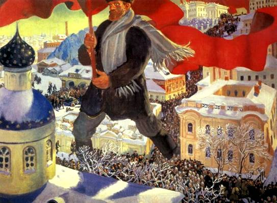 Картины Кустодиева Большевик