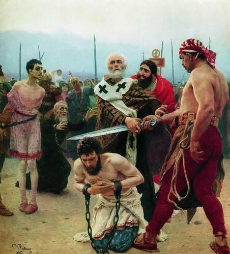 Николай спасает трех осужденных от казни