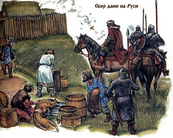 Сбор дани на Руси