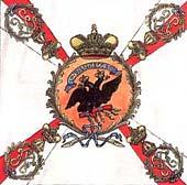 Белое знамя Лейб-гвардии Преображенского полка образца 1800 г.
