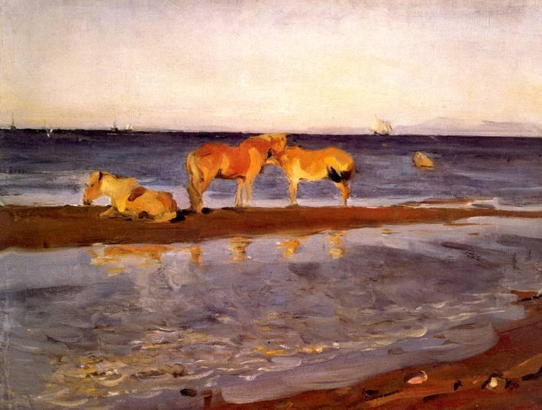 Лошади на взморье
