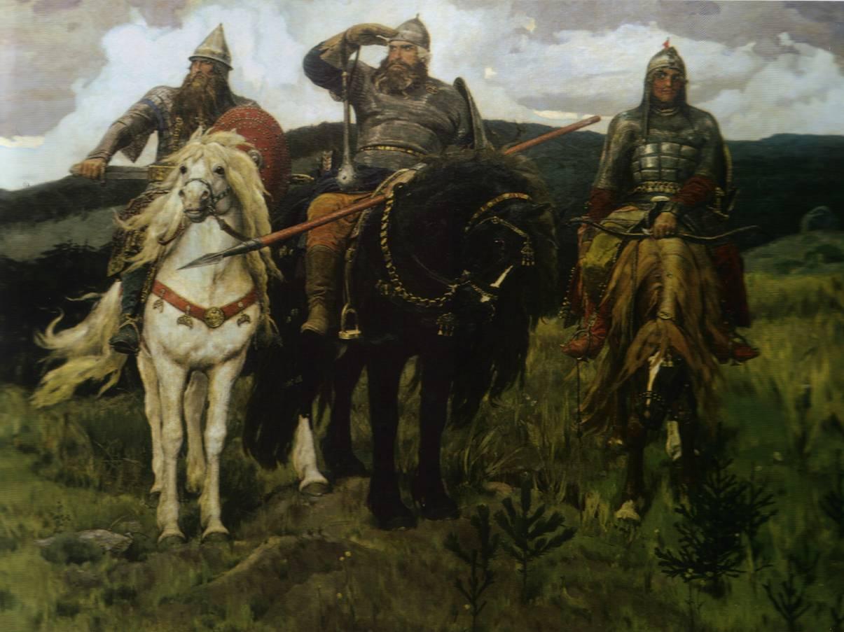 Три Богатыря Васнецова