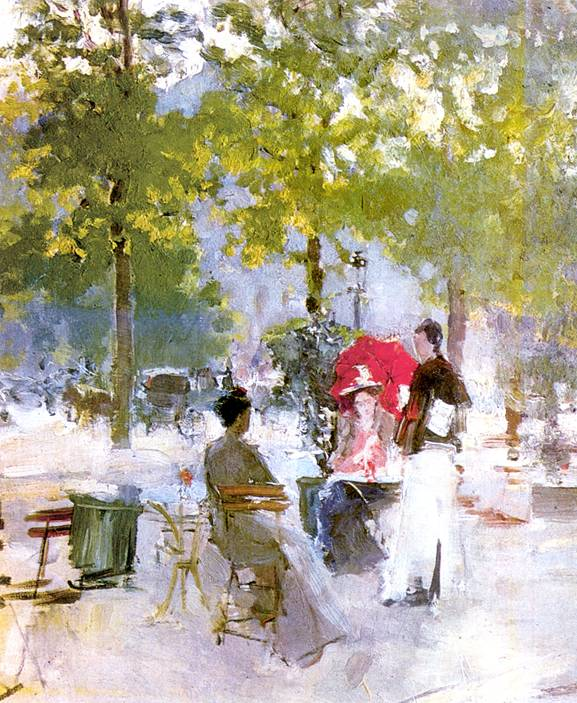 Парижское кафе. картина Коровина
