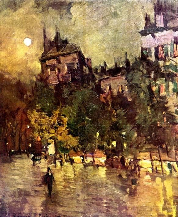 Париж после дождя. Картина Коровина