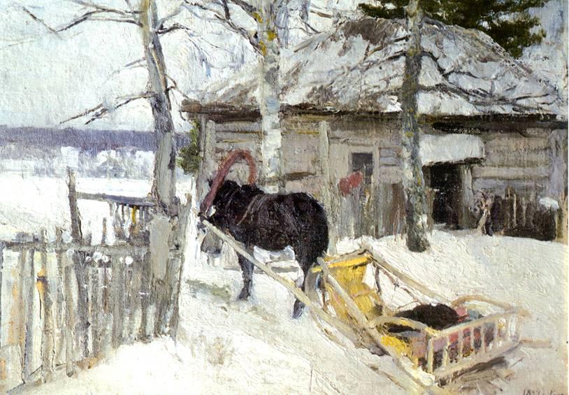Зимой Картина Коровина