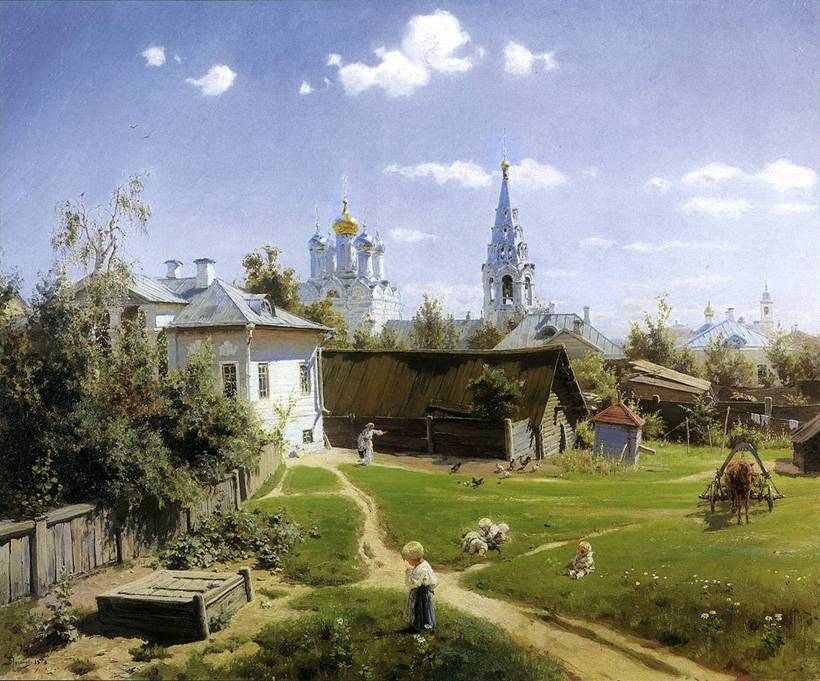 картина поленова московский дворик