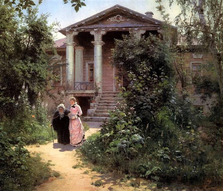 Картина Поленова Бабашкин сад