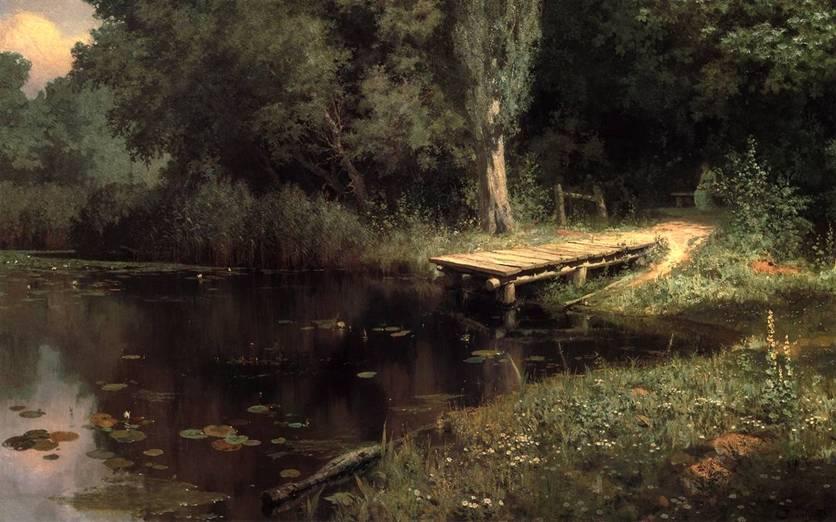 картина поленова заросший пруд