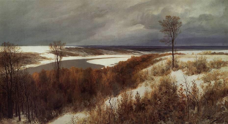Картина Поленова ранний снег