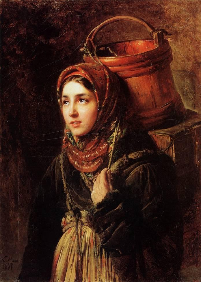 Селедочница. Картина Маковского