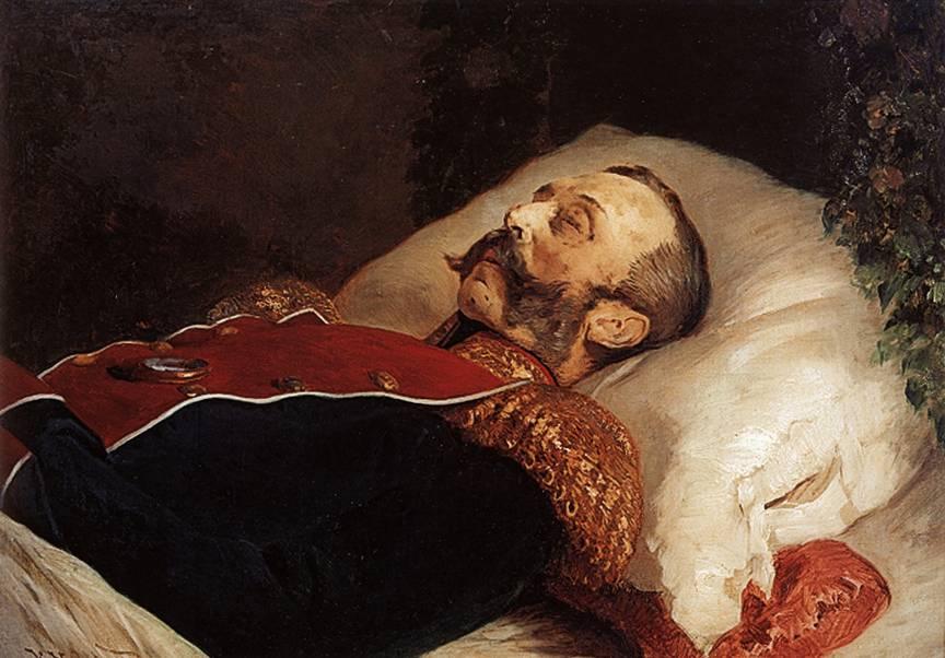Александра 2 на смертном ложе. картина Маковского
