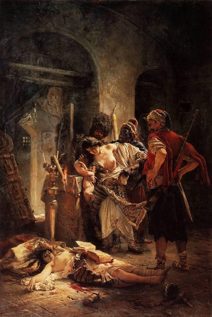 Болгарские мученицы. Картина Маковского
