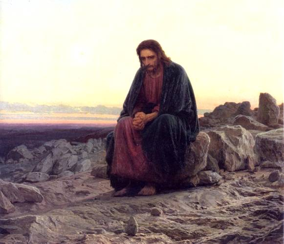 Христос в пустыне. Крамской