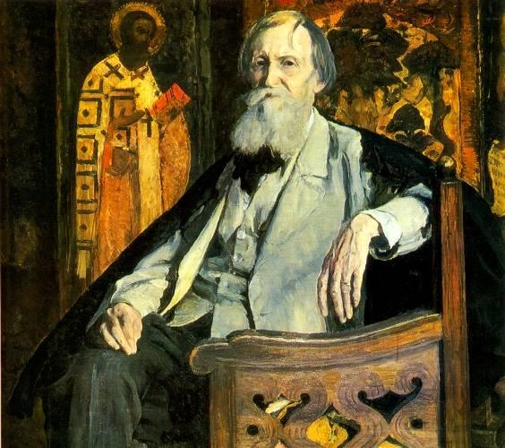 Портрет Васнецова. Нестеров