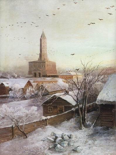 Сухарева башня. Саврасов