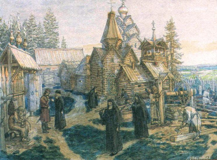 Троице-Сергиева Лавра. Картина Виктора Васнецова