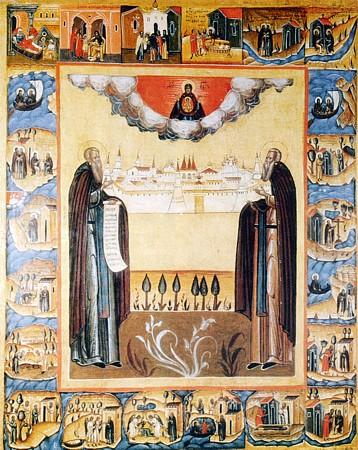 Основатели Соловецкий монастырь икона