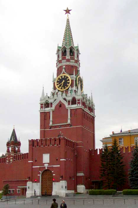 Спасская башня Московского Кремля фото