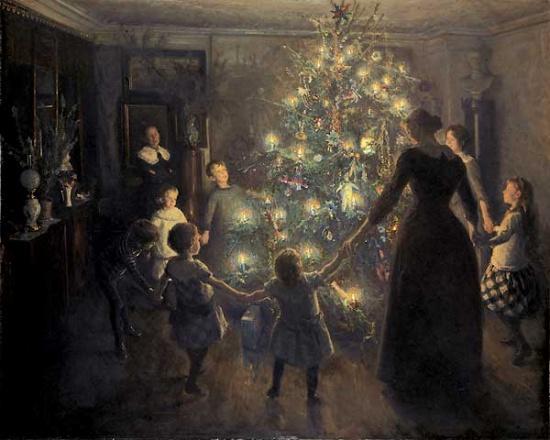 Новый год. Русская семья